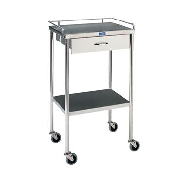 "Utility Table, 16"" x 20"" with Shelf, 1 Drawer and Rail"