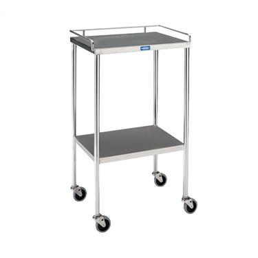 "Utility Table, 16"" x 20"" with Shelf and Rail"