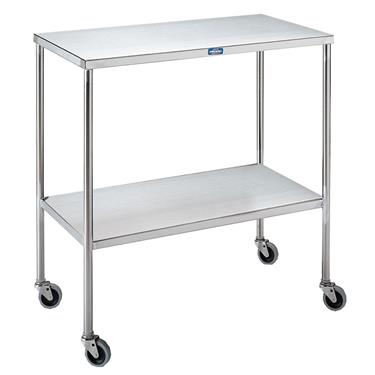 "Instrument Table with Shelf, 30""W x 16""D X 34""H"