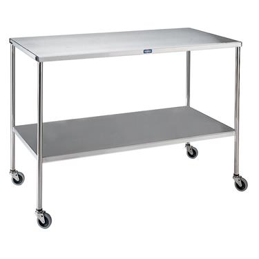 "Large Instrument Table with Shelf, 48""W x 20""D X 34""H"