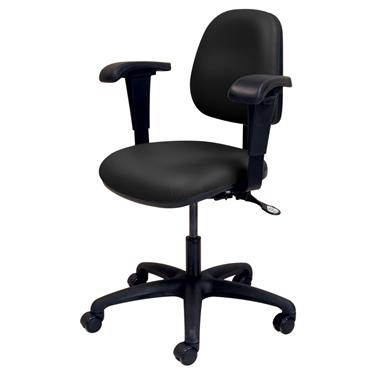 Ergo Task Chair with Adjustable Arms, Black