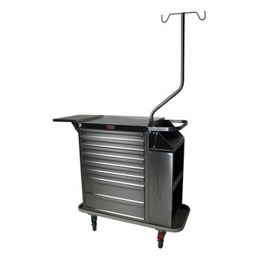 Deluxe Cast Cart, Stainless Steel, 6 Drawers
