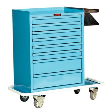 Cast Cart, Painted Steel, 8 Drawers