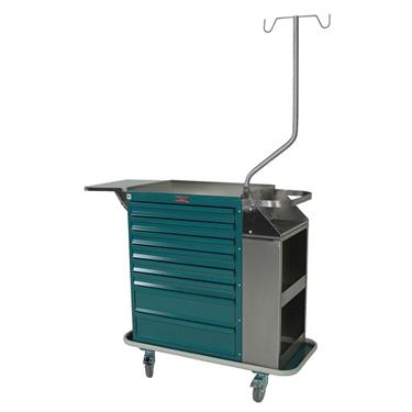 Deluxe Cast Cart, Painted Steel, 8 Drawers