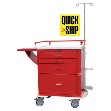 Emergency Cart, 4 Drawers, Specialty Pkg.