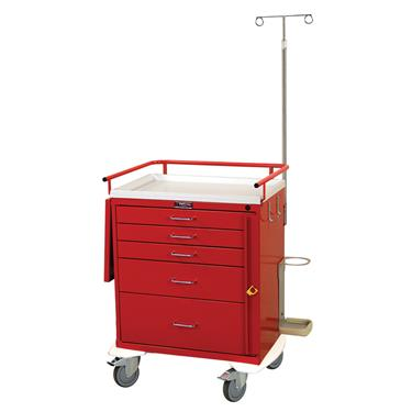 "Emergency Cart, 5 Drawers, 24""H, Specialty Pkg."