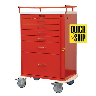 Emergency Cart, 6 Drawers, Breakway Lock