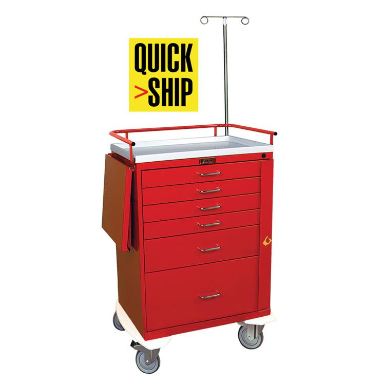 Emergency Cart, 6 Drawers, Specialty Pkg.