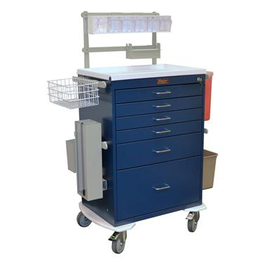 Anesthesia Workstation, Deluxe, 6 Drawers, Key Lock