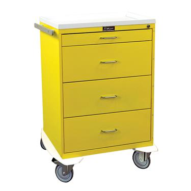 Infection Control Cart,  4 Drawers, Key Lock