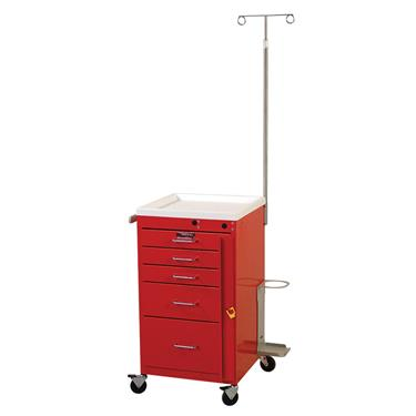 Mini Line Emergency Cart, 5 Drawers, Specialty Pkg.