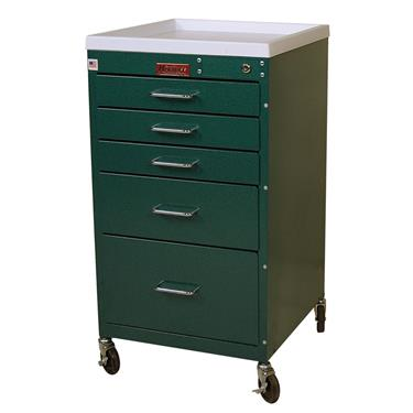 Mini Line Anesthesia Cart, Standard, 5 Drawers