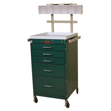 Mini Line Anesthesia Cart, 5 Drawers, Accessory Pkg.