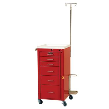 "Mini Line Emergency Cart, 6 Drawers, 3"" Casters, Specialty Pkg."