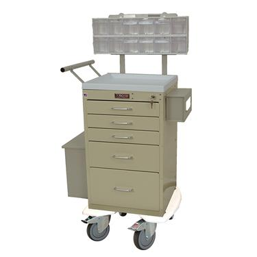 Mini Line Phlebotomy Cart, 5 Drawers, Specialty Pkg.