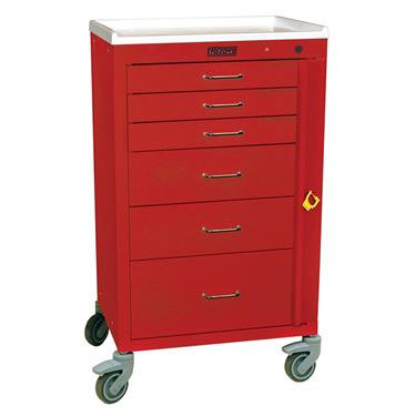"Mini24 Emergency Cart, 6 Drawers, 3"" Casters"
