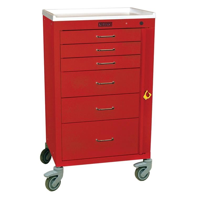 Mini24 Emergency Cart, 6 Drawers, 3