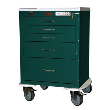 Mini24 Anesthesia Cart, 5-Drawers, E-Lock