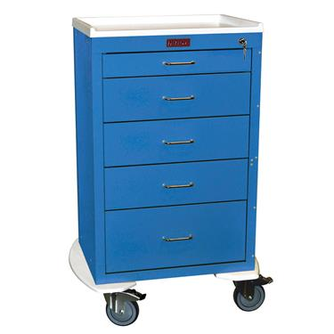 Mini24 Anesthesia Cart, 5 Drawers, Key Lock