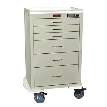 Mini24 Anesthesia Cart, 6 Drawers, Basic E-lock