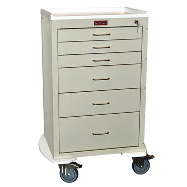 Mini24 Anesthesia Cart, 6 Drawers, Key Lock
