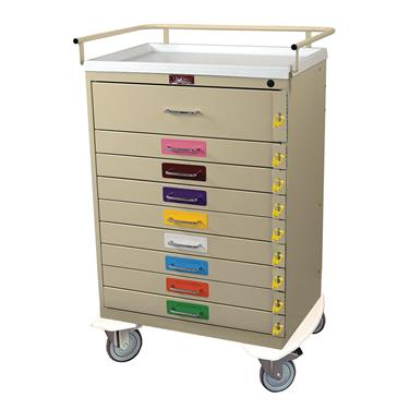 Pediatric Resuscitation Cart, 9 Drawers, Standard