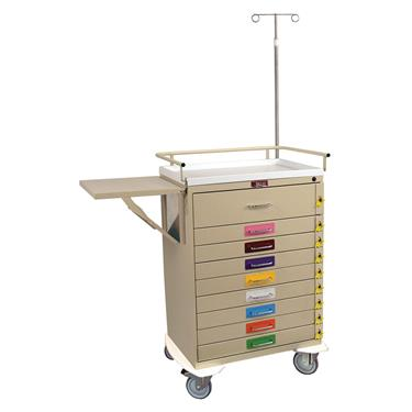 Pediatric Resuscitation Cart, 9 Drawers, Specialty Pkg.