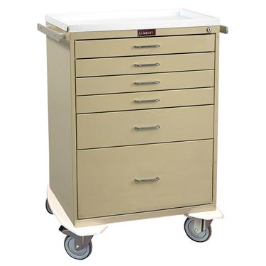 Anesthesia Workstation, 6 Drawers, Key Lock