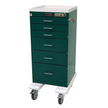"Mini Line Procedure Cart, 30""H, 6 Drawers, 5"" Casters"