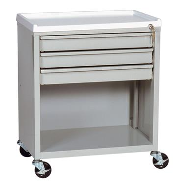 Treatment Cart, 3 Drawers, Lower Compartment