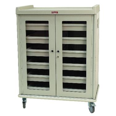 "IntraOcular Lens Storage Cart, 55.5""H, 6 Drawers, Side Push Handles"