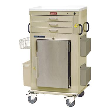 Malignant Hyperthermia Cart, Refrigerator, 3-Drawers