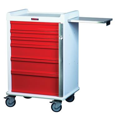 MR-Conditional Emergency Cart, 6 Drawers, Standard