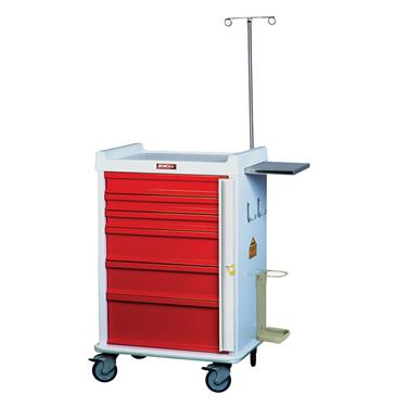 MR-Conditional Emergency Cart, 6 Drawers, Specialty Pkg.