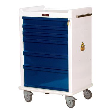 MR-Conditional Anesthesia Cart, 6-Drawers, Key Lock