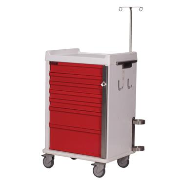 MR-Conditional Emergency Cart, 7 Drawers, Specialty Pkg.