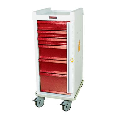 MR-Conditional Emergency Cart, Standard, 6 Drawers