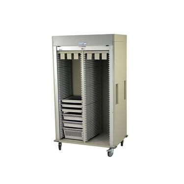 Catheter Procedure Storage Cart, Double-Column, Tambour Door, Preconfigured