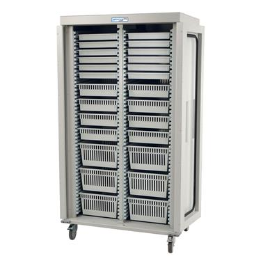 Medical Storage Cart, Double-Column, Tray Preconfiguration