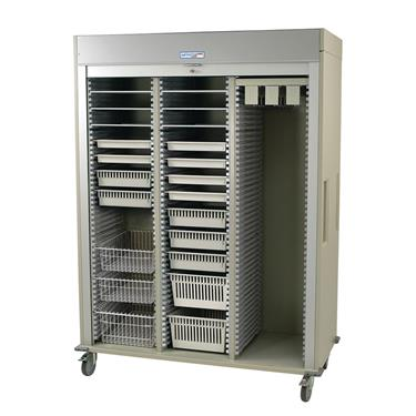 Catheter Procedure Storage Cart, Triple Column, Preconfigured