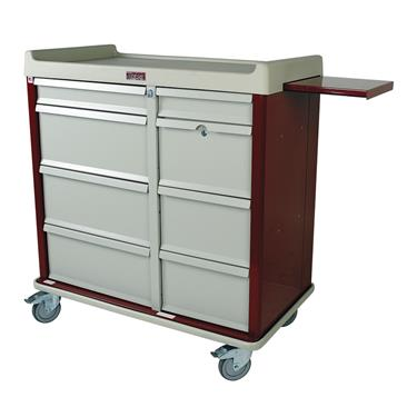 600-Capacity Punch Card Medication Cart, Dbl. Wide