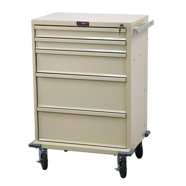 "V-Series Procedure Cart, 30""H, 5 Drawers"