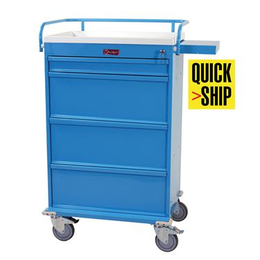 360-Capacity Punch Card Medication Cart