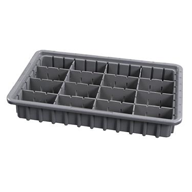 "3"" Exchange Tray w/Adjustable Dividers"