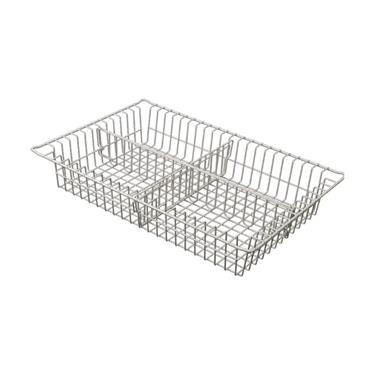 "3"" Wire Basket, 1 Long and 1 Short Divider"