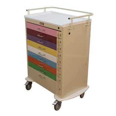 Pediatric Cart, 9 Drawers, Standard Pkg.