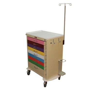 Pediatric Cart, 9 Drawers, Emergency Pkg.