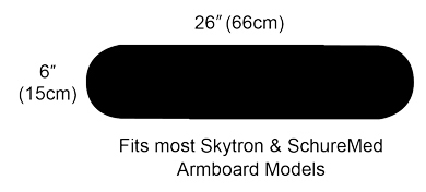 Padding for Skytron & SchureMed Surgical Armboards
